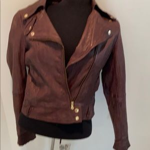 Guess Moto Leather Jacket